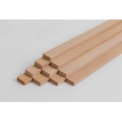 10er-Set Holzleiste - Buche gehobelt - 8/20/500 mm