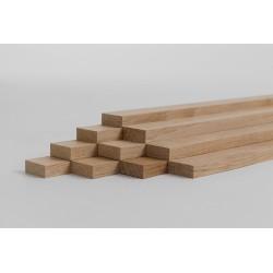 10er-Set Holzleiste - Eiche gehobelt - 8/20/500 mm