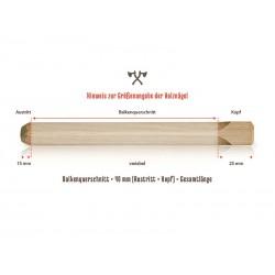 Hinweis zur Größenangabe der Holznägel