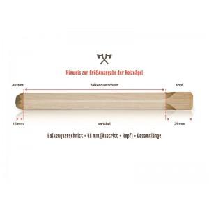 Holznägel - Lärche universal - L 280 mm