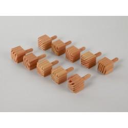 Ziernägel - Lärche gefast - 20x20x20 mm