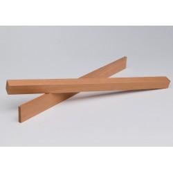 Holzleiste - Khaya Mahagoni gehobelt - 8/25/1000 mm