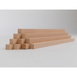 10er-Set Holzleiste - Buche gehobelt - 15/15/500 mm