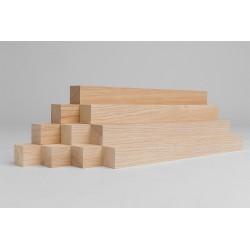 10er-Set Holzleiste - Lärche gehobelt - 25/25/500 mm