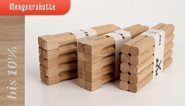 Mengenrabatte für Holznägel